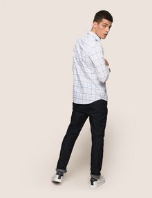 ARMANI EXCHANGE LONG-SLEEVE TARTAN PRINT SHIRT Long sleeve shirt Man e