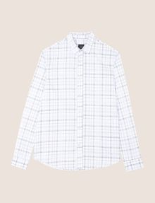 ARMANI EXCHANGE LONG-SLEEVE TARTAN PRINT SHIRT Long sleeve shirt Man r