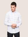 ARMANI EXCHANGE LONG-SLEEVE TARTAN PRINT SHIRT Long sleeve shirt Man f