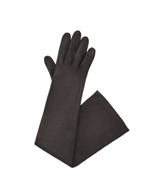 LONG BLACK LEATHER GLOVES - Lanvin