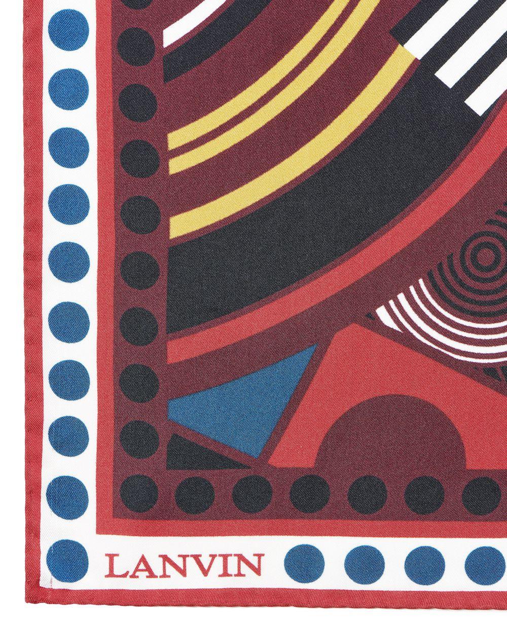 LARGE BLACK SQUARE SCARF WITH JACQUARD PRINT - Lanvin