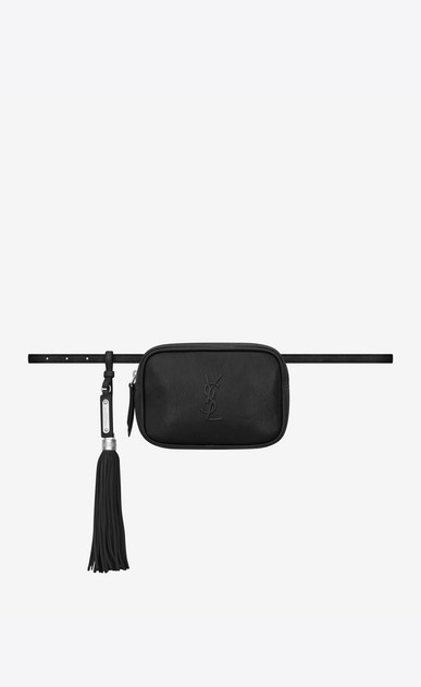 SAINT LAURENT Belt Bags Woman lou belt bag in black leather a_V4