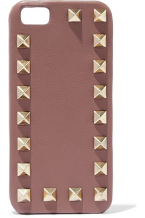 VALENTINO Rockstud leather iPhone 5 case