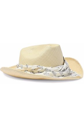 MAISON MICHEL Lucky Dart In My Heart fil coupé-trimmed straw hat