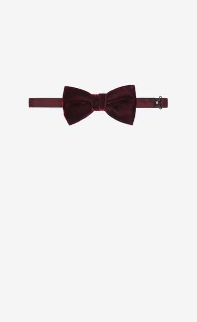 SAINT LAURENT Bow Ties Man YVES bow tie in burgundy velvet b_V4