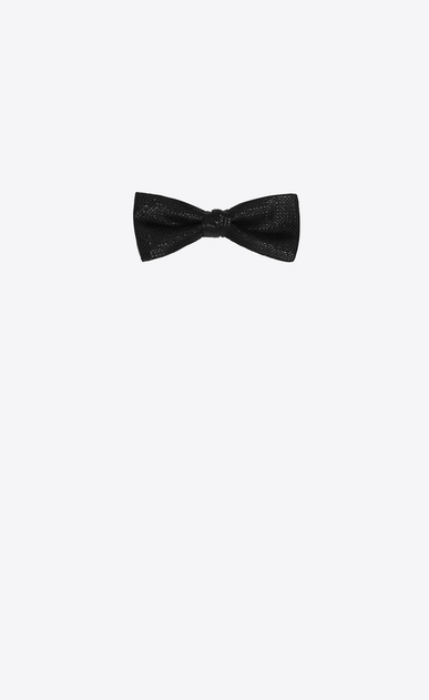 SAINT LAURENT Bow Ties Man YVES bow tie in micro-sequin black silk a_V4