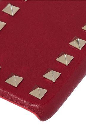 VALENTINO GARAVANI Studded textured-leather iPhone case