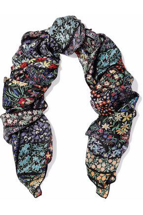 VALENTINO Floral-print silk-chiffon scarf