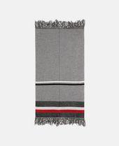 Stella Mccartney Zig-Zag Patterned Scarf - Grey, Multicolor