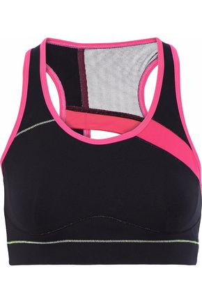 SÀPOPA Athena mesh-paneled cutout stretch sports bra