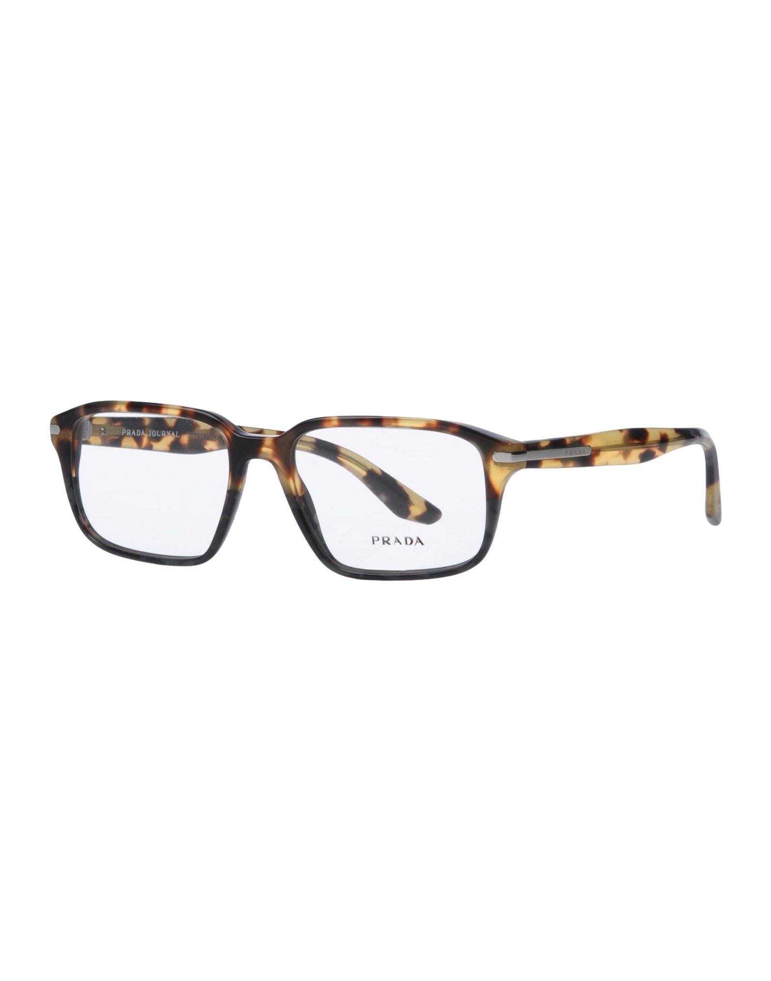 PRADA Herren Brille Farbe Khaki Größe 1