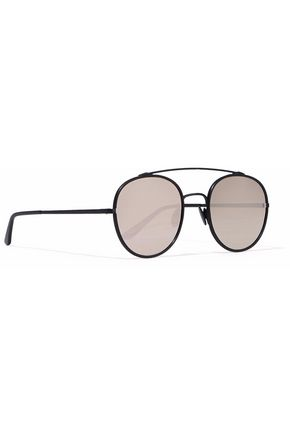 SUNDAY SOMEWHERE Parker aviator-style metal mirrored sunglasses