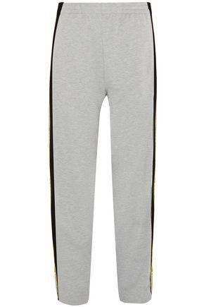 KOCHÉ Mélange cotton-jersey track pants