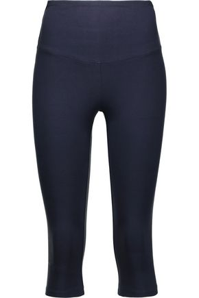 YUMMIE by HEATHER THOMSON Cropped stretch-cotton jersey leggings