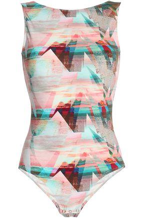 BODYISM Printed stretch bodysuit