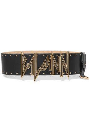 BALMAIN Embellished leather belt