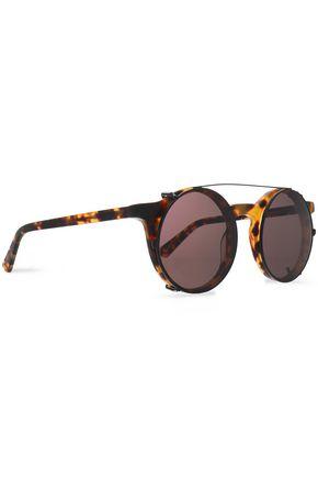 SUNDAY SOMEWHERE Lorenzo round-frame tortoiseshell acetate and gold-tone mirrored sunglasses