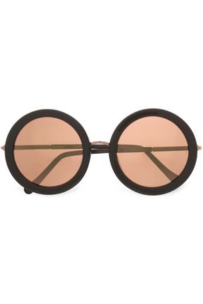 6c97e0841f1 SUNDAY SOMEWHERE Isabella round-frame acetate and rose gold-tone sunglasses