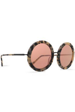 SUNDAY SOMEWHERE Isabella round-frame acetate and rose gold-tone sunglasses