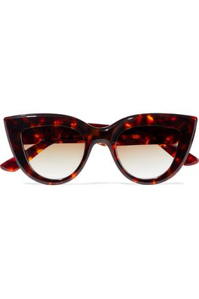 WOMAN QUIXOTE CAT-EYE TORTOISESHELL SUNGLASSES BROWN
