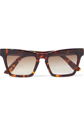 ELLERY Cremaster square-frame tortoiseshell acetate and gold-tone sunglasses
