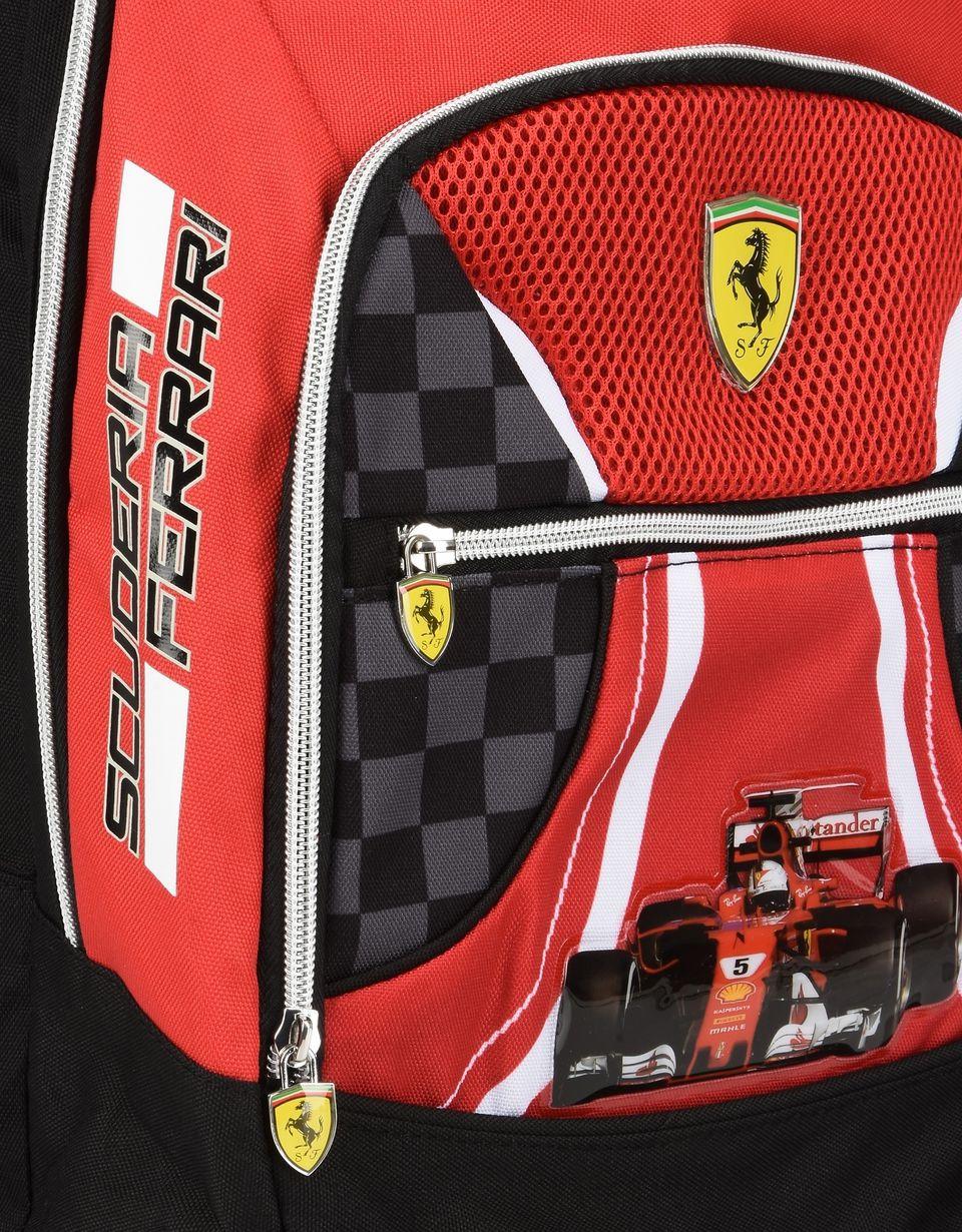 Scuderia Ferrari Online Store - Zaino organizzato Scuderia Ferrari - Zaini Scuola