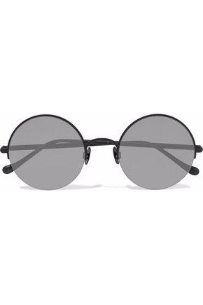 SUNDAY SOMEWHERE Raine round-frame metal mirrored sunglasses