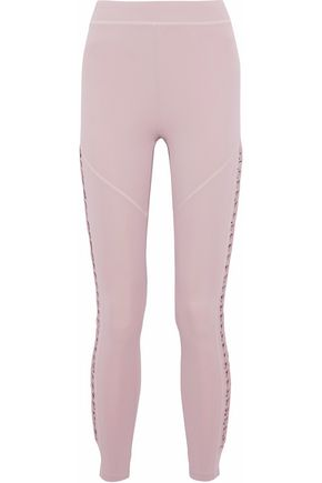 CUSHNIE ET OCHS Cropped lace-up stretch leggings
