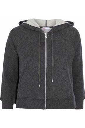 REDValentino Cotton-fleece hooded sweatshirt