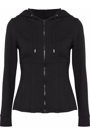 CUSHNIE ET OCHS Stretch-jersey hooded jacket