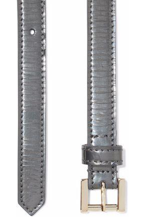GIORGIO ARMANI Metallic leather belt