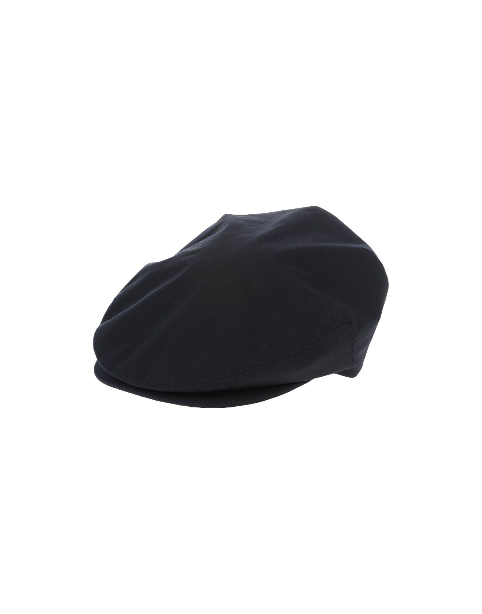 《送料無料》ERMENEGILDO ZEGNA メンズ 帽子 ブラック S ウール 100%