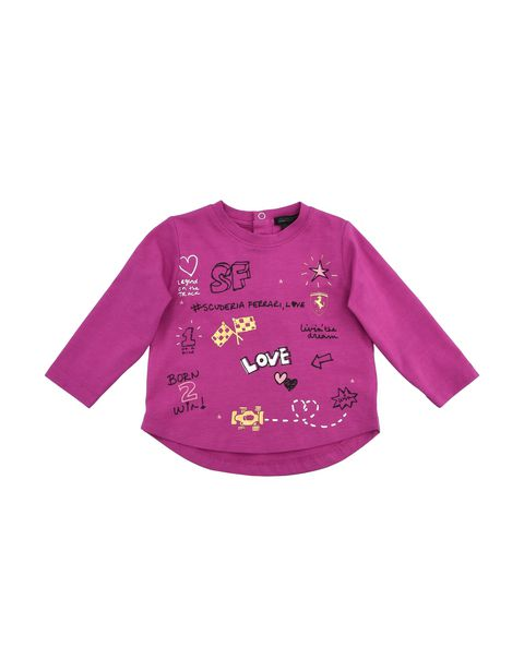 Baby girl T-shirt with long sleeves