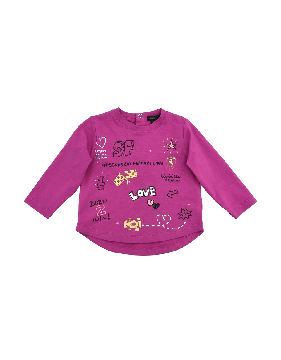 Scuderia Ferrari Online Store - Baby girl T-shirt with long sleeves - Long Sleeve T-Shirts