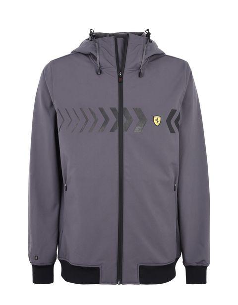 Scuderia Ferrari Online Store - Men's hooded softshell jacket - Bombers & Track Jackets