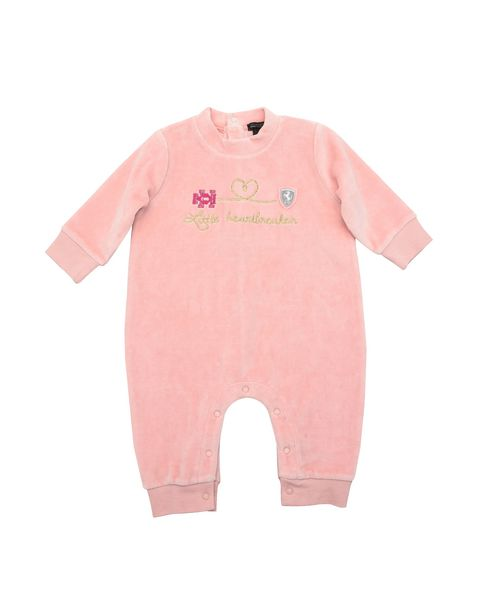 Baby girl all-in-one in chenille