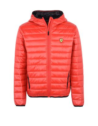 Scuderia Ferrari Online Store - Men's padded jacket with hood -