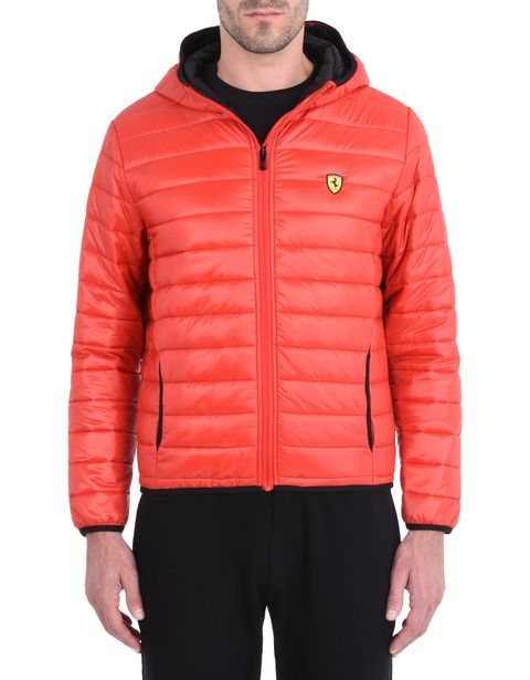 Men's padded jacket with hood