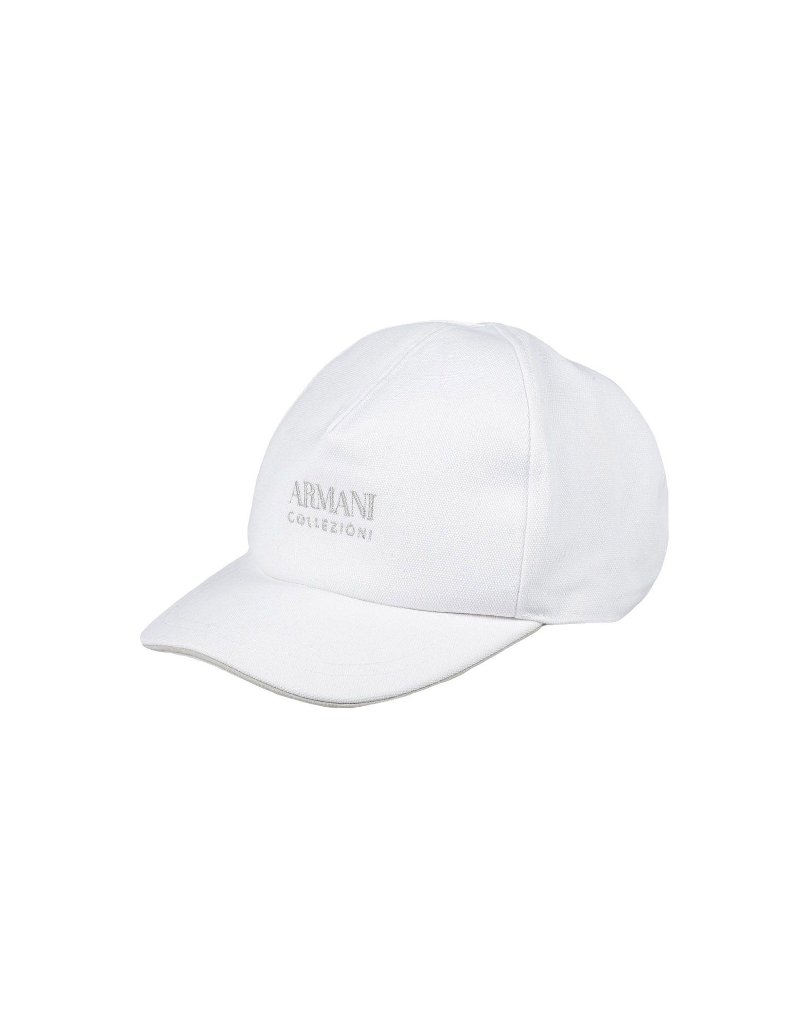 《送料無料》ARMANI COLLEZIONI メンズ 帽子 ホワイト L コットン 100%