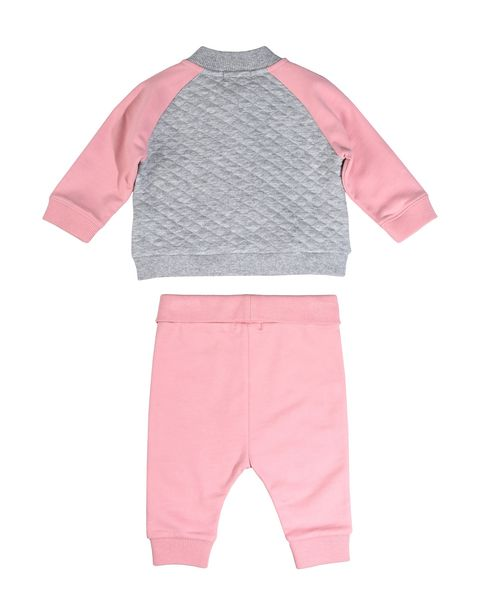 Scuderia Ferrari Online Store - Infant girls' outfit with full zipper sweatshirt and cotton sweatpants - Baby & Kids Sets