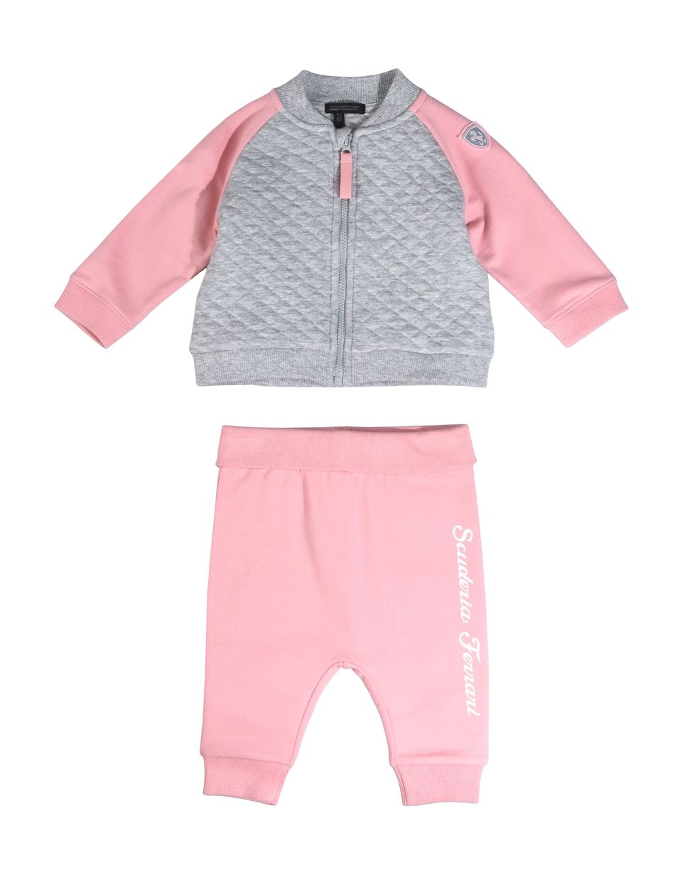 Scuderia Ferrari Online Store - Infant outfit with full zip sweatshirt and cotton trousers -