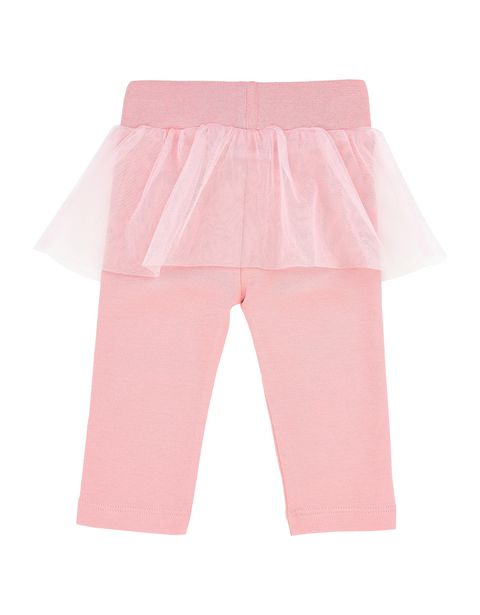 Infant leggings with tulle