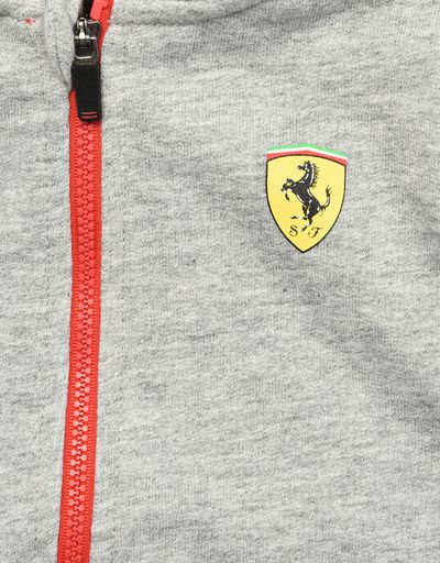 Scuderia Ferrari Online Store - Infant cotton sweatshirt with fleece lining - Zip Hood Sweaters