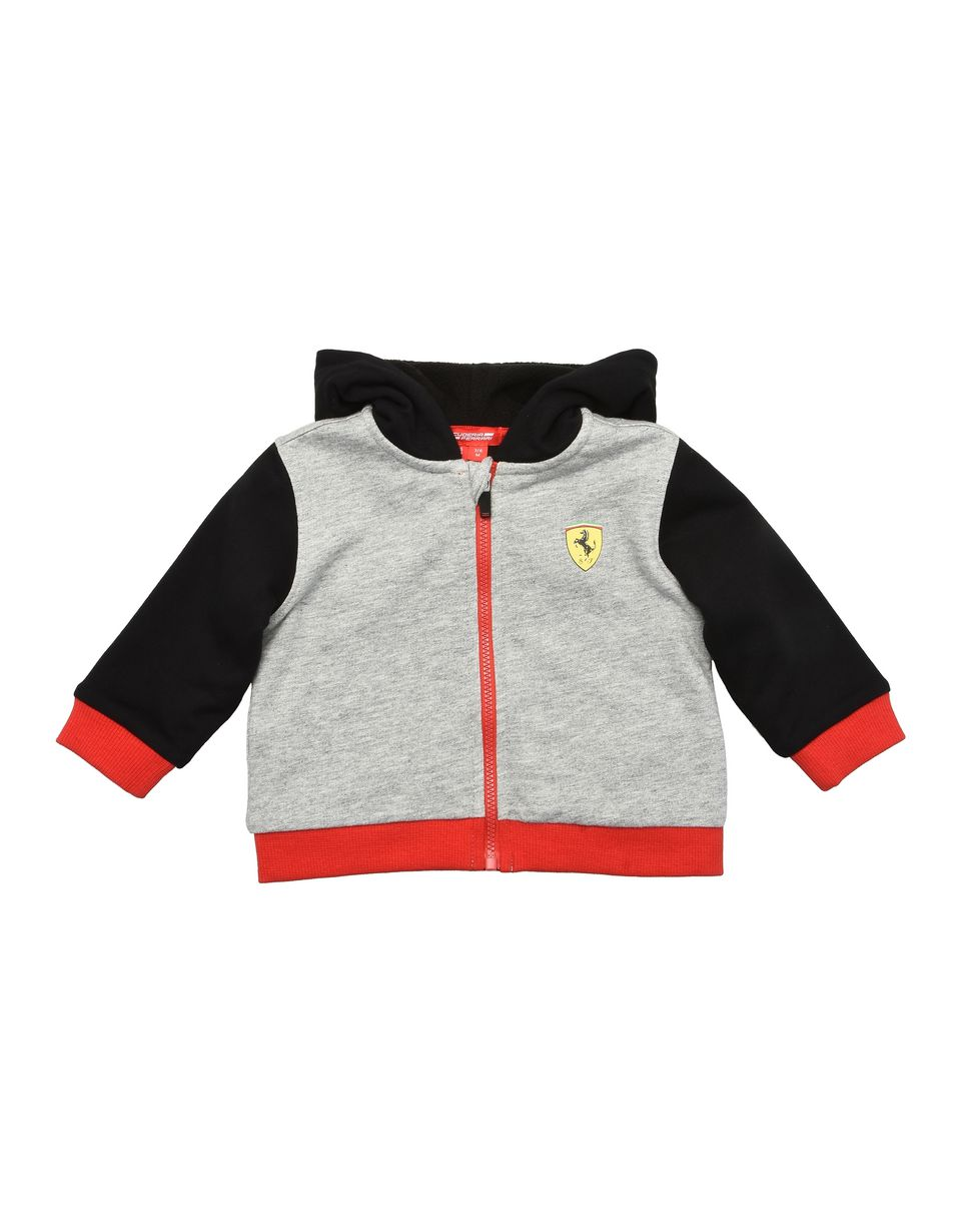 Scuderia Ferrari Online Store - Infant cotton sweatshirt with fleece lining - Zip Hood Jumpers
