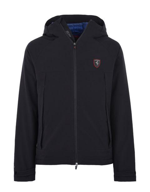 Scuderia Ferrari Online Store - Men's down jacket with hood -