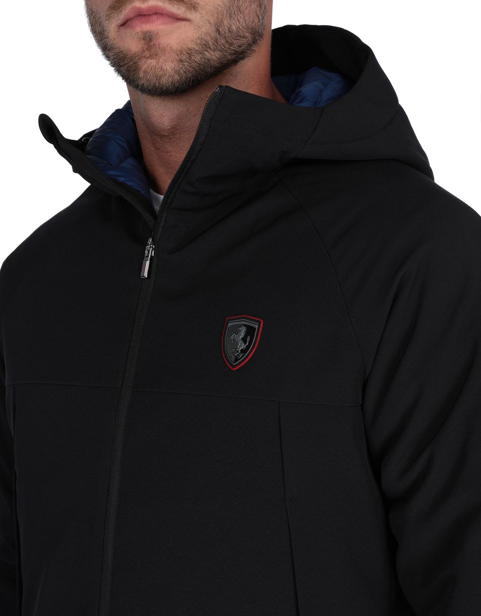Scuderia Ferrari Online Store - Men's down jacket with hood - Down Jackets