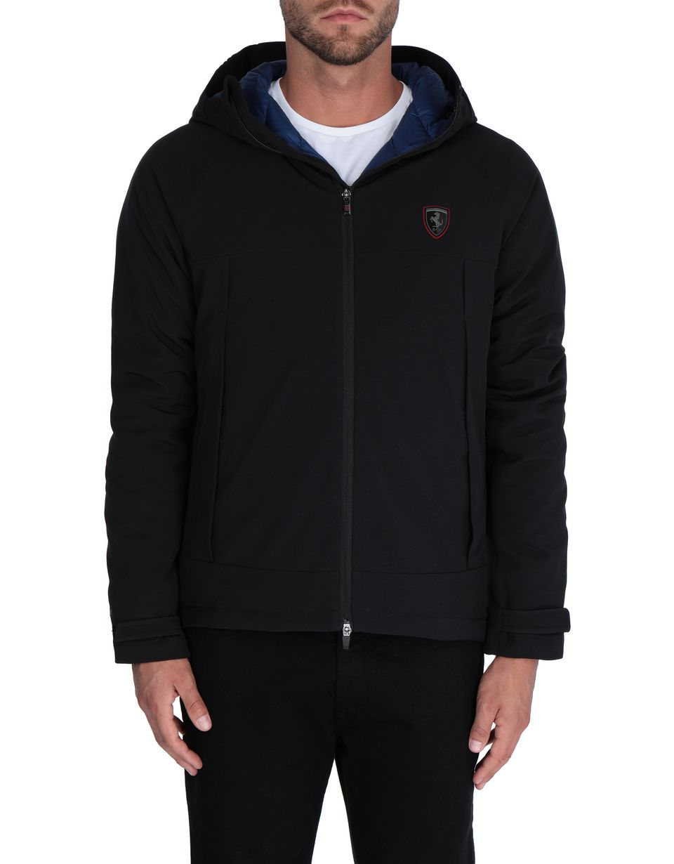 Scuderia Ferrari Online Store - Men's hooded down jacket - Down Jackets