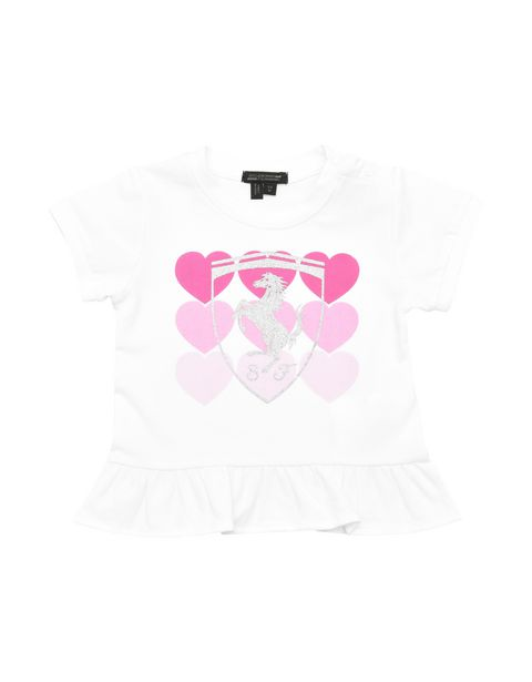 Short-sleeved infant T-shirt with flounce