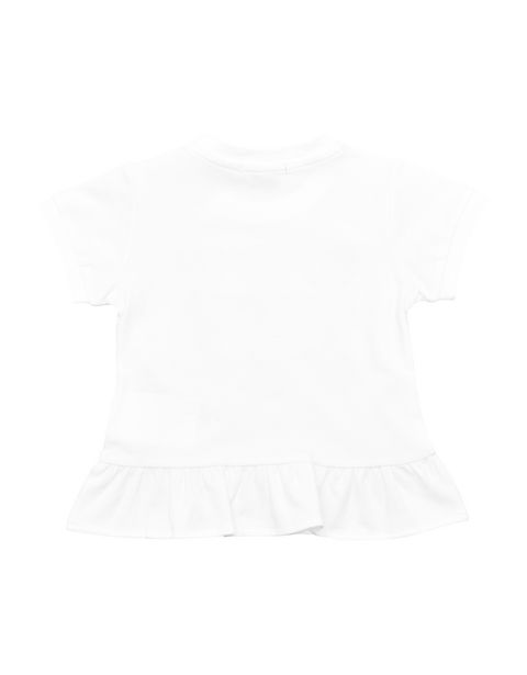 Short-sleeve infant T-shirt with flounces