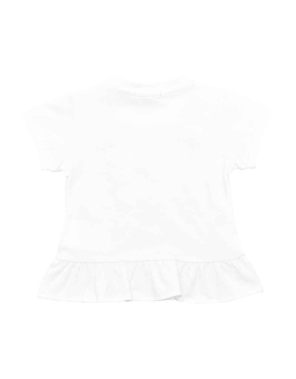 Scuderia Ferrari Online Store - Short-sleeved infant T-shirt with flounce - Short Sleeve T-Shirts